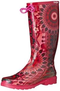 Damen Langschaft Gummistiefel, Rot