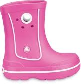Pink Crocband Jaunt Kinder Gummistiefel