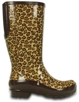Crocs Stiefel Braun Leopard Tall Rain